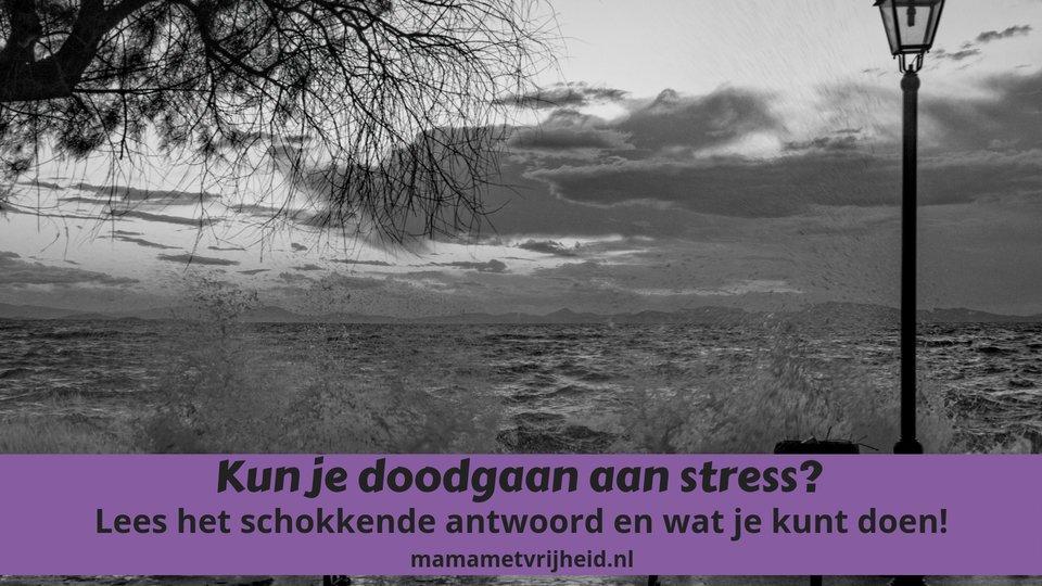 doodgaan aan stress