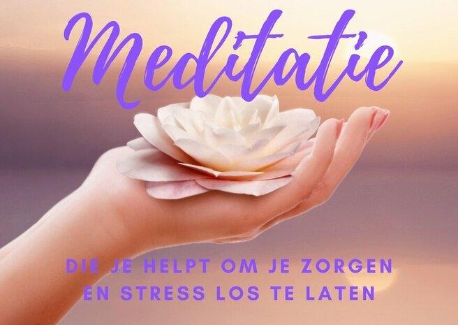 meditatie loslaten zorgen en stress banner