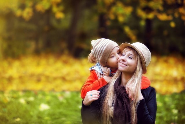 moeder kind gelukkig