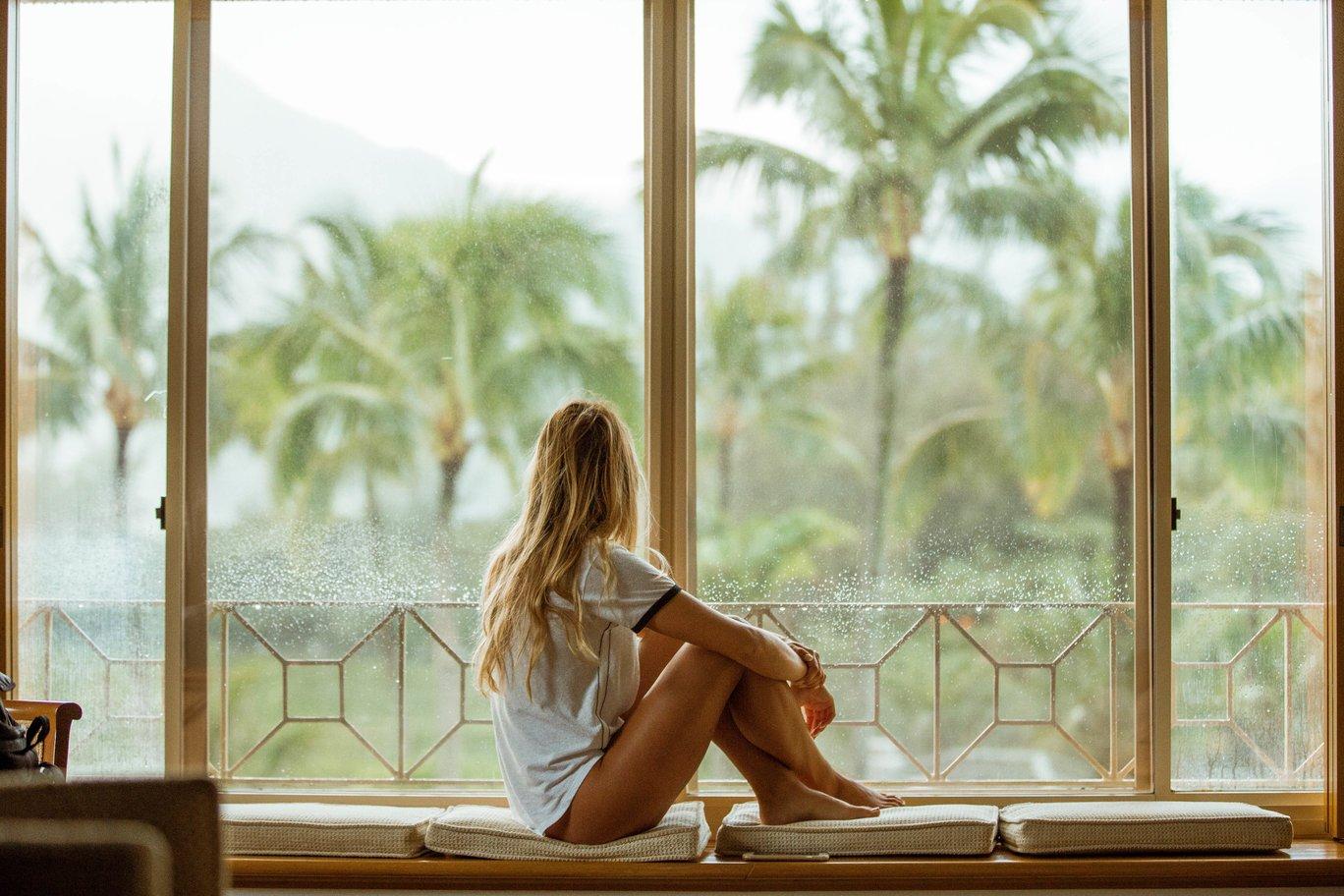 relaxte vrouw