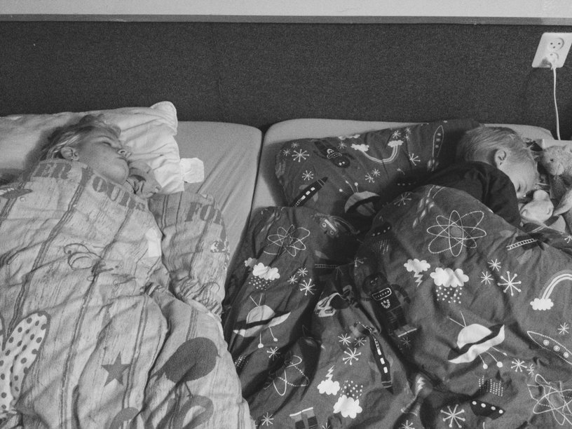 samen slapen oudere kinderen