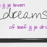 Leef jij je droom of droom jij je leven?