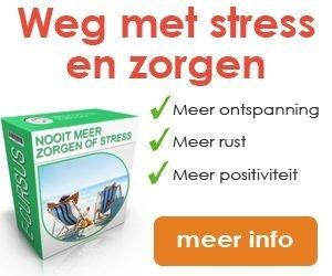 Nooit meer zorgen of stress banner