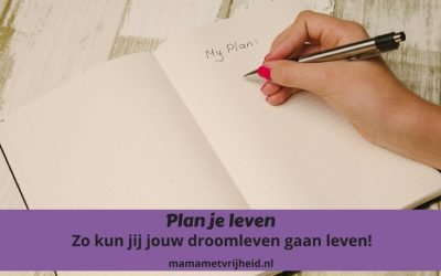 Plan je leven. Zo kun jij jouw droomleven gaan leven!