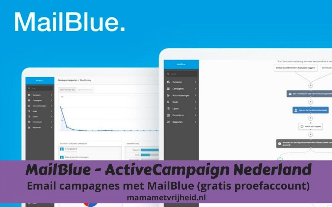 ActiveCampaign Nederland – Email campagnes met MailBlue (gratis proefaccount)