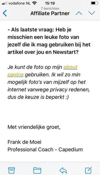 frank de moei newstart email