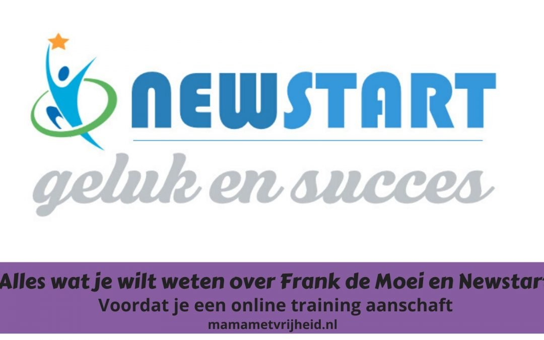frank de moei newstart review