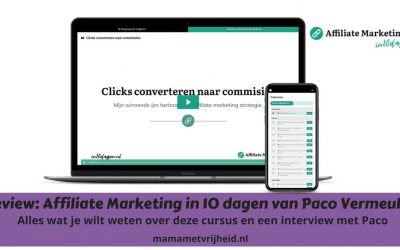 Review: Affiliate Marketing in 10 dagen van Paco Vermeulen